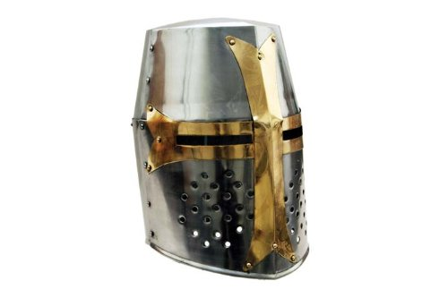 Szco Supplies Brass Crusader Helmet - Knights Templar Helmet