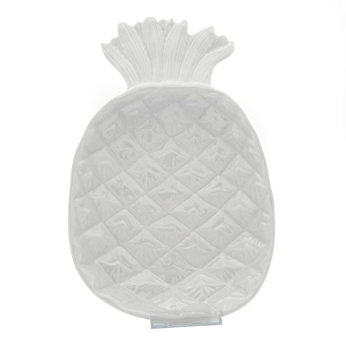 - TP Pineapple Shaped Chip-Resistant Melamine Ceramic-Like Plastic Plate, Pasta Bowl, BPA Free&Dishwasher Safe (10.9 Inch Grey)