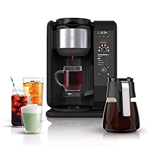 Ninja Hot and Cold Brewed System, Auto-iQ Tea and Coffee Maker with 6 Brew Sizes, 5 Brew Styles, Frother, Coffee & Tea…