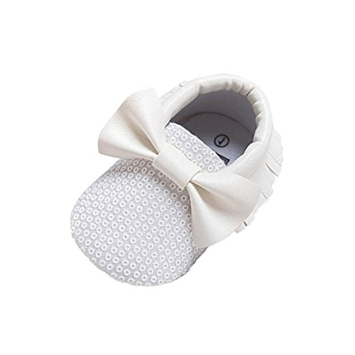 kingko® Baby Girl bowknot Glands PU Paillettes Chaussures en cuir souple Toddler Sole Sneakers Chaussures Casual
