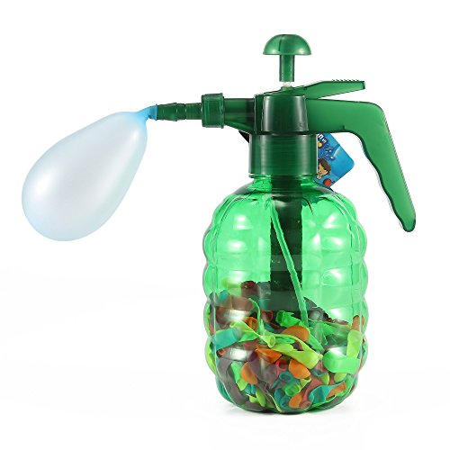 Price comparison product image Grenade Water Balloon Pumping Station with 500 Water Balloons and Water Pump for Kids (Green)