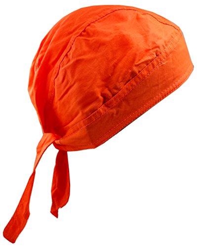 Hi-Vis Blaze Orange Doo Rag Skull Cap Safety Bandana Hunting Head Wrap