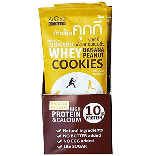 Banana Oat Cookies - whey protein Cookies banana & peanut butter boost your energy up anytime and anywhere 480 g Packed in aluminum foil bag 12 bags/box