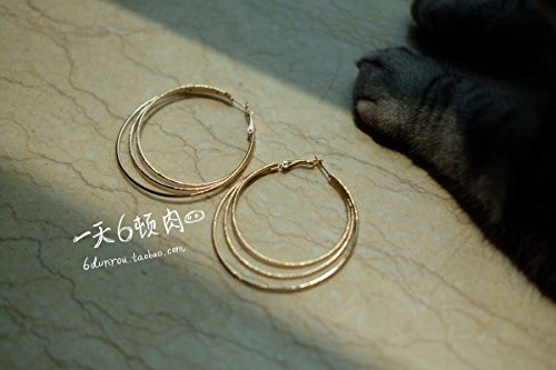 TKHNE one day six tons meat three times big earrings metal ring