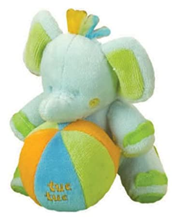 Amazon.com : Tuc Tuc Elephant Plush Soft Baby Rattle and ...