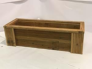 Deluxe para maceta de jardín de madera natural, natural