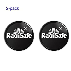 VersionTech Cell Phone Anti Radiation Protector Shield Sticker, EMR Protection Blocker, EMF Neutralizer Patch For Use On All EMF Devices: WiFi, iPhone, iPad, Kindle, Laptop(2-pack)