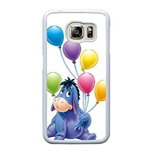 Grouden R Create and Design Phone Case,Eeyore Winnie the Pooh Cell Phone Case for Samsung Galaxy S6 Edge White + 1*Touch Stylus Pen (Free) GHL-2870994
