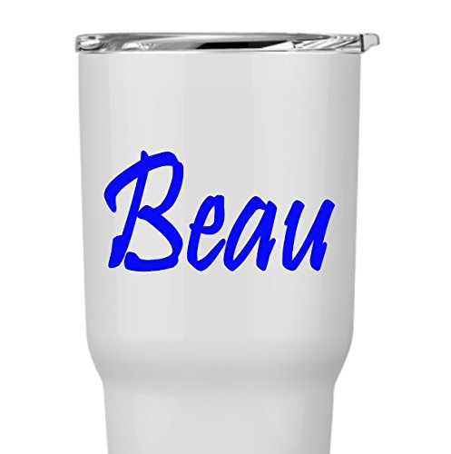 Custom Name in Calligraphy Script Decal Sticker for Laptop Dorm Car Yeti RTIC Ozark Tumbler or Cup ()