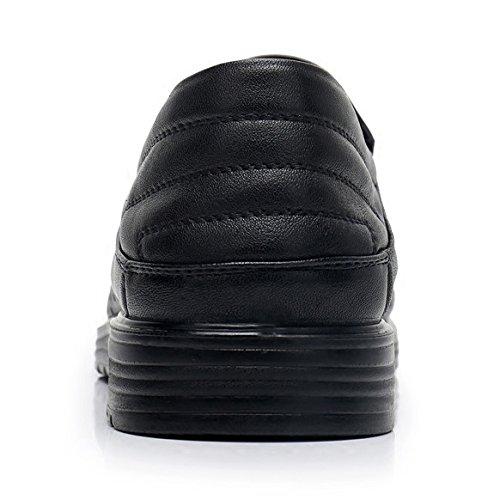 Felpe in Oxford da Pelle da Black Uomo Piatte Scarpe di sui Casual Guida Scarpe da Traspiranti Scarpe Scivolate Mocassino Uomo 16wAqXxx