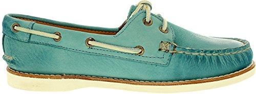 Sperry Top-Sider Gold A/O del hombre cruz Barco de encaje zapato Turquoise
