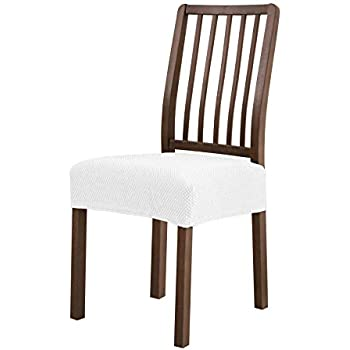amazoncom subrtex dining room chair seat slipcovers removable washable elastic cushion covers