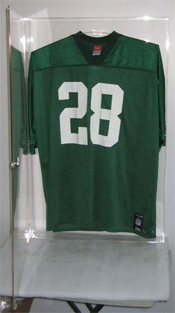 clear acrylic jersey display case football baseball basketball jersey frame with lock uv protection ajc07