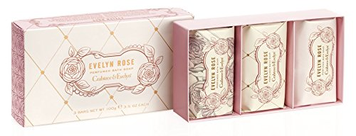 Rose Soap Set (Crabtree & Evelyn Perfumed Bath Soap Set, Evelyn Rose)