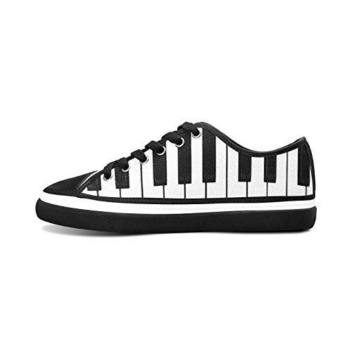 D-story Custom Piano Keybord Dames Antislip Canvas Schoenen Mode Sneaker