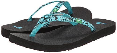 Sanük Damen Zehentrenner Flip Flops Yoga Joy Funk aqua tribal