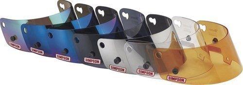 Simpson 86034M Racing Helmet Shield Mirror Street Bandit Anti-Fog Coating Each