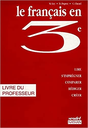 Le Francais En 3eme Livre Du Professeur Amazon Co Uk