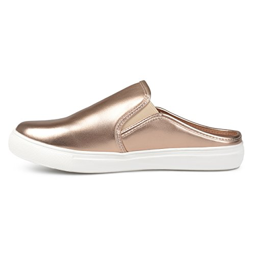 Journee Collection Casual Mules Rondes Sneaker Mules Or Rose