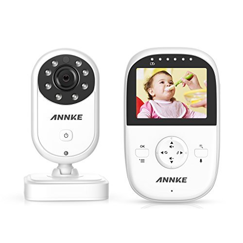 """Premium Wireless Baby Monitor By ANNKE - Built-In Camera & Clear Two-Way Audio - Night Vision Mode - 2.4GHz Encrypted WiFi Long Transmission Range - 2.4"""" LCD Screen Controller Unit"""