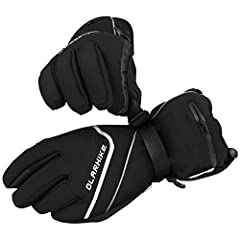 Super winter gloves for men's and women's third times warmer insulation 40 grams 3M Thinsulate and 140 grams warm cotton insulation prevent cold and keep hands warm. It is 100% knitted polyester lining helps to keep hands dry and warm in wint...