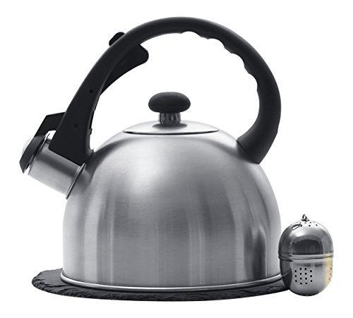 (Creative Home 1.5 Qt. Stainless Steel Tea Kettle with Tea Infuser and 7.5