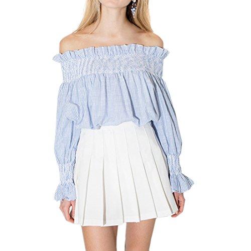 women-sweet-stripe-shirt-lace-isabel-marant-loose-pattern-sexy-off-shoulder-tops