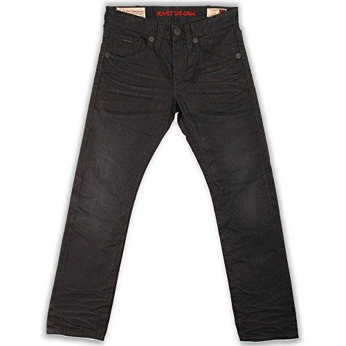 Rivet De Cru Caviar Wash Jeans Black by Rivet De Cru Denim