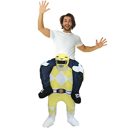 (Morph Unisex Yellow Mighty Morphin Power Rangers Piggyback Costume - With Stuff Your Own)