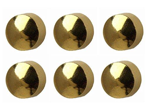 6 Paires régulièrement Studex Clous d'oreille Plaqué or 4 mm