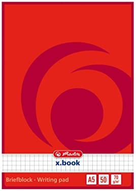 10x Briefblock / Schreibblock / DIN A5 / kariert