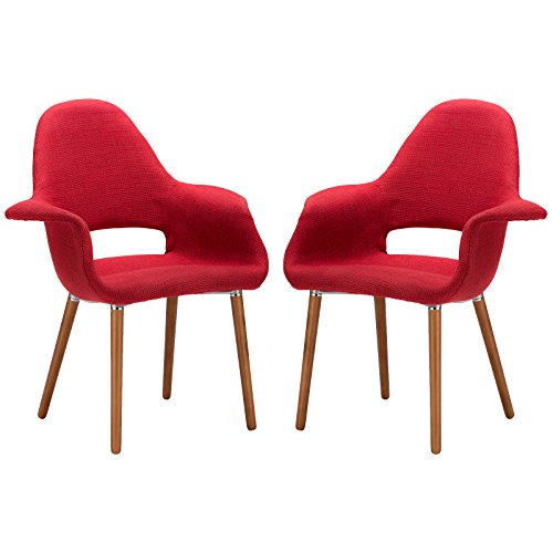 Poly and Bark Barclay Dining Chair in Red (Set of 2) - Funky Modern Chair