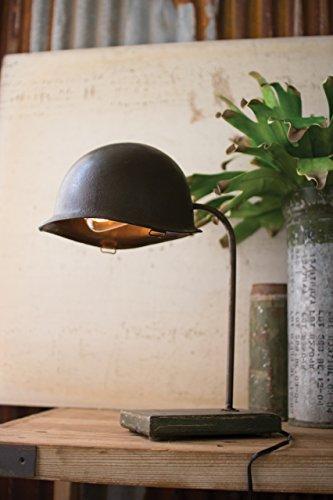 Kalalou Vintage Army Helmet Desk Lamp by Kalalou