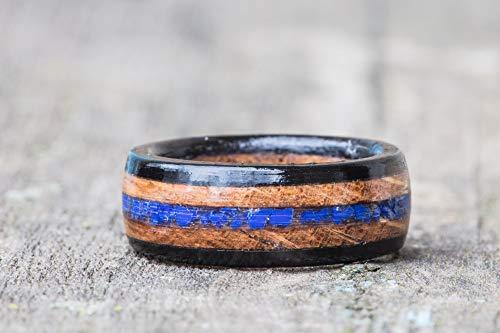 Tennessee Whiskey Barrel, Lapis Lazuli, and Ebony Wood Ring