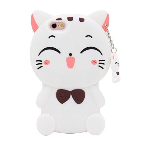 Animal Amp (Maoerdo Cute 3D Cartoon Fortune Cat Silicone Rubber Phone Case Cover for Samsung Galaxy J3 Eclipse / J3 Luna Pro / J3 Emerge / J3 2017 / J3 Prime / J3 Mission / Sol 2 / Amp Prime 2 / Express Prime 2)