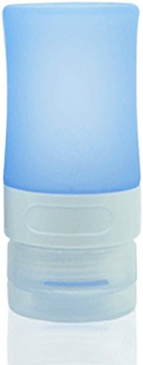 EMVANV - Pack vacío recargable de silicona para botella de viaje, champú, contenedor de baño