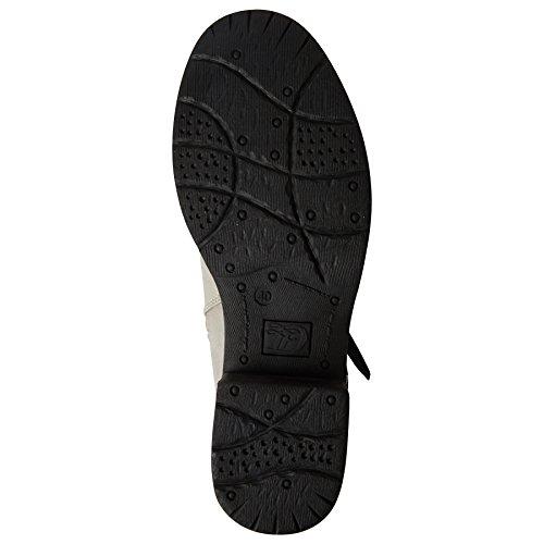 3795601 Ivoire Damen TOM Biker Boots TAILOR Offwhite WExUPnFUv