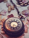 Notebook: Clock old historically wind up horology antique time pendulum clock frequency watch water clock hour