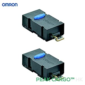 Pack of 2 Omron Micro switches Angle Terminal SPST 0.6N Home Appliances Logitech MX Anywhere M905 Mouse Replacement