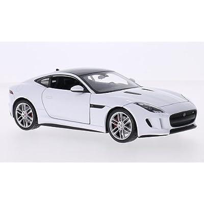 Jaguar F-Type Coupe, blanche/noire, 0, voiture miniature, Miniature déjà montée, Welly 1:24