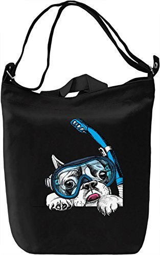 Diver Dog Borsa Giornaliera Canvas Canvas Day Bag| 100% Premium Cotton Canvas| DTG Printing|