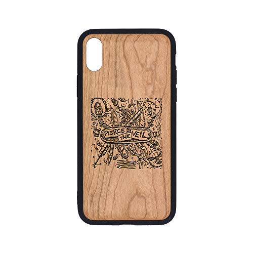 Pierce The Veil Misadventures - iPhone Xs Case - Cherry Premium Slim & Lightweight Traveler Wooden Protective Phone Case - Unique, Stylish & Eco-Friendly - Designed for iPhone Xs