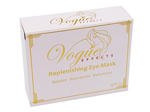 41Df0oanq7L - 24k Gold Eye Mask - with Collagen by Vogue Effects (15 Pairs), Under Eye Mask Treatment for Puffy Eyes, Dark Circles Corrector, Used for Eye Bags, Anti Aging Patches Luxury Gift for Women and Men