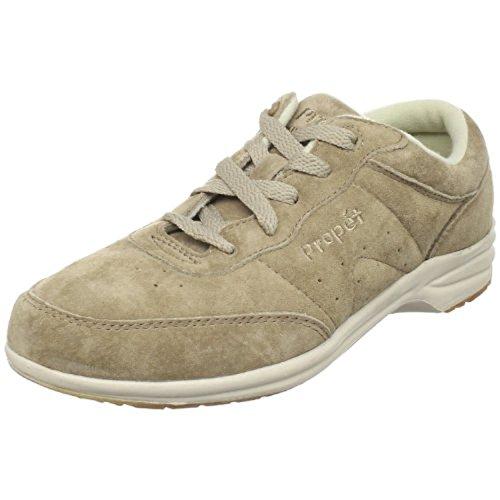 Propet Women Wasbare Walker Suede Shoe & Oxy Cleaner Bundel Classic Taupe
