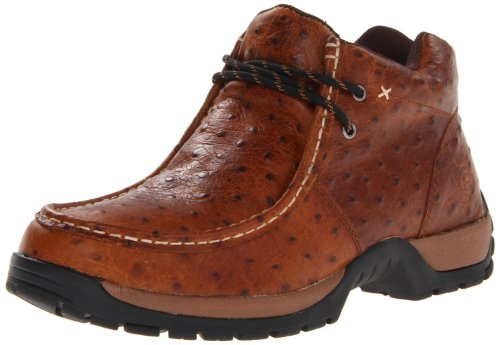 ROPER Men's Performance 2-Eyelet Ankle Boot, Brown Ostrich, 7 D - Medium