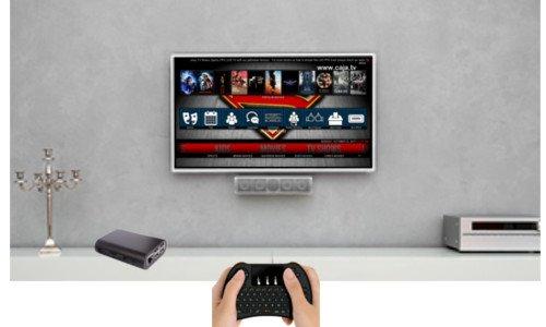 SaharaMicro SMI Raspberry Pi 3 Powered KODI Home Media Center 8GB, HDMI, WiFi, Black ABS Case, 5V 2.5A Power, MINI Wireless Keyboard KIT by SaharaMicro (Image #2)