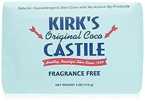 Kirk's Coco Castile Soap, Fragrance Free (5 Pack)