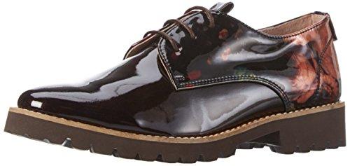 Zapatos Mujer De 850325 Derby Braun Cordones Piazza Marrón dkbrown Para 7A6qwp5
