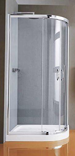 Mampara de ducha New CEE 1/4 de redondo japonés a cuatro paneles: Amazon.es: Bricolaje y herramientas