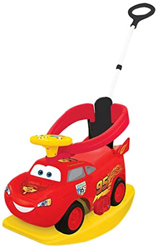 Kiddieland Toys Limited Disney CARS McQueen 4 in 1 Ride On - Red
